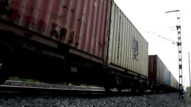 Freight Train HD1080p: Freight train passing by dusk. goodbye single word stock videos & royalty-free footage