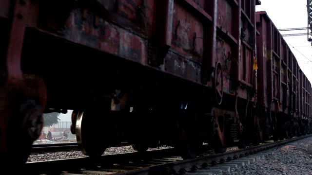 Freight Train Indian cargo container freight train in motion. tramway videos stock videos & royalty-free footage