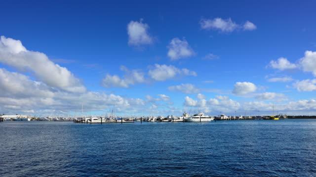 4K: Fremantle's Yacht Harbour, Perth, Western Australia video