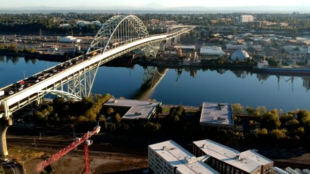 Fremont Bridge Morning Traffic video