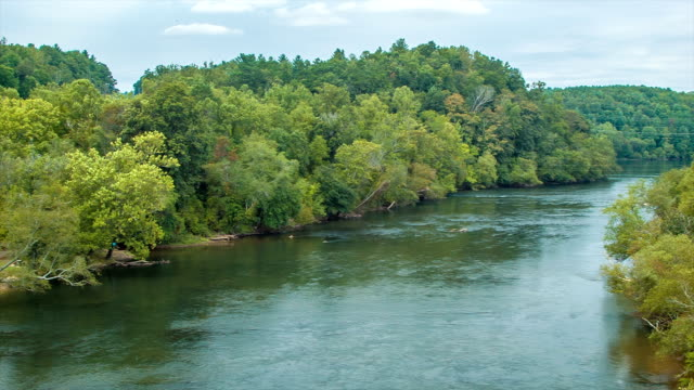 French Broad River Flowing Through Asheville, NC video