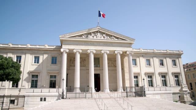 franska tingshus-video 4k - domstol bildbanksvideor och videomaterial från bakom kulisserna