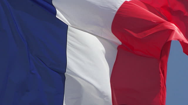 French Flag Waving in the Wind, Caen City in Normandy, Slow Motion French Flag Waving in the Wind, Caen City in Normandy, Slow Motion caen stock videos & royalty-free footage
