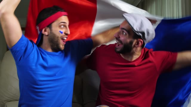 French Friends Celebrating with France Flag French Friends Celebrating with France Flag bastille day stock videos & royalty-free footage