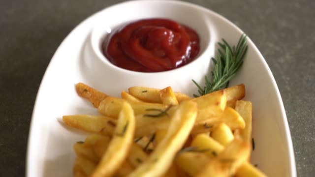 french fries with sauce video