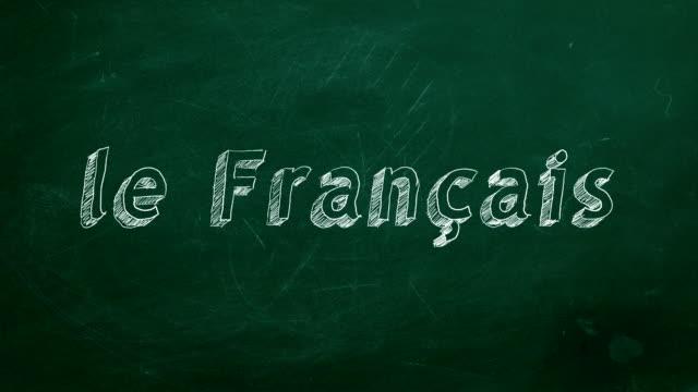 Conceito de aprendizagem do francês - vídeo