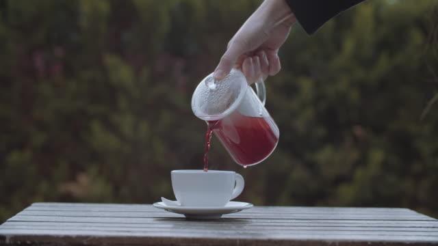 French press winter tea