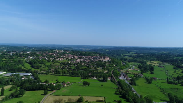 French villages view from the sky collection : Belves in Perigord