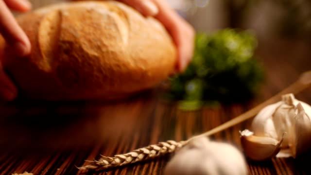 Fresh baked bread 012 video
