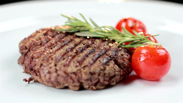 Fresh beef steaks video