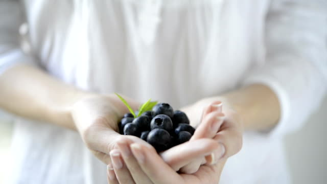 Fresh blueberry fruit video