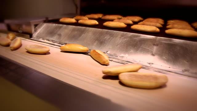 Fresh Bread On The Conveyor Belt video