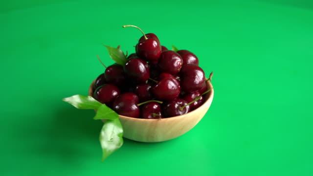 fresh cherry - white background стоковые видео и кадры b-roll