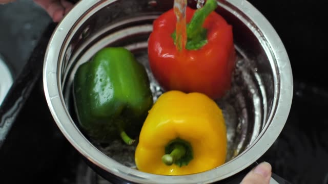 Fresh colorful vegetables slow motion video video