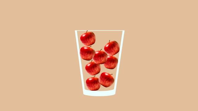 frische fruchtcocktail animation - tropischer cocktail stock-videos und b-roll-filmmaterial