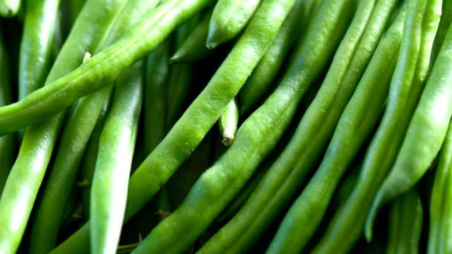 Fresh Green Bean close up video
