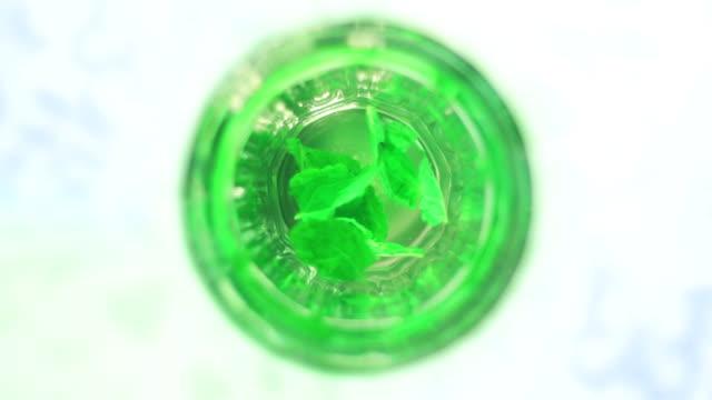 HD: Verde té de menta fresca - vídeo
