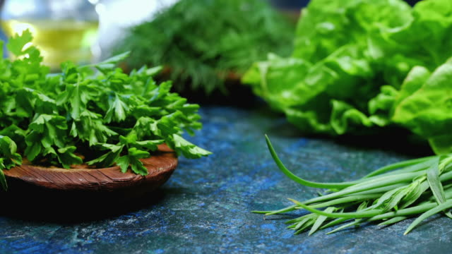 Fresh herbs variety video