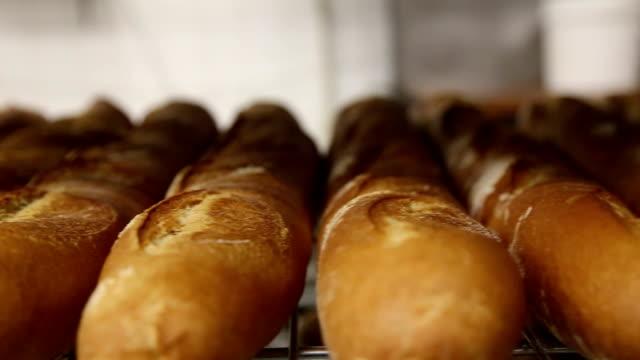 Fresh Italian Bread At Bakery video