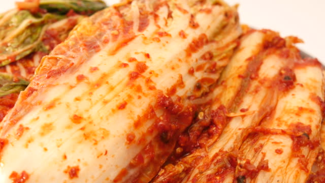 Fresh kimchi in detail video