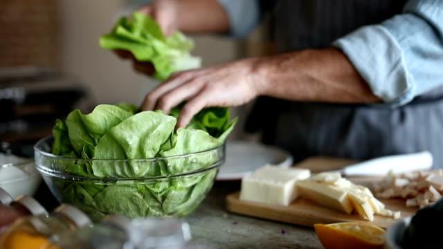 Fresh lettuce for salad video