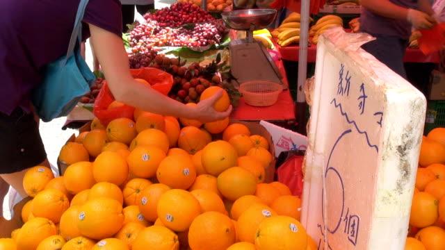 Fresh orange for sale video