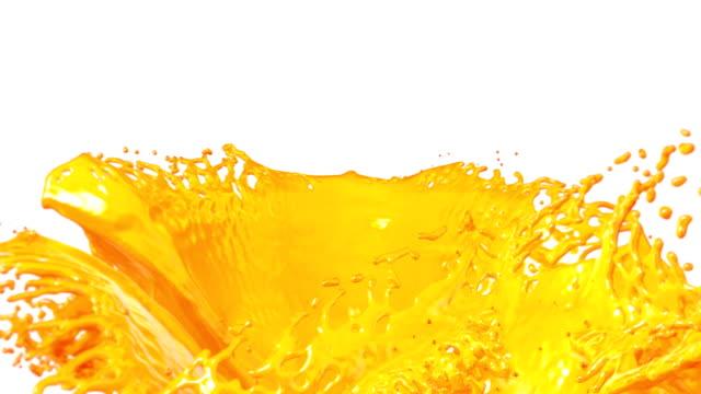 Fresh Orange Juice flow. video
