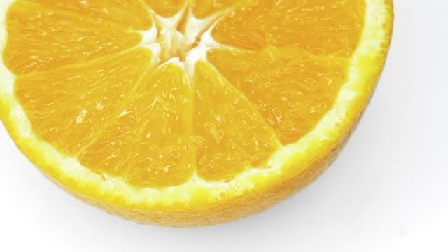 Fresh Orange on white background.
