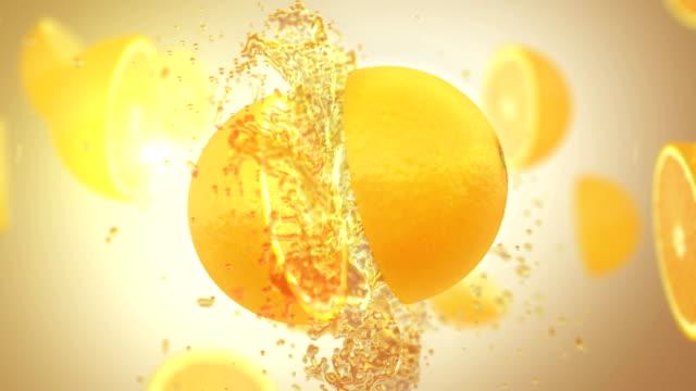 Fresh Orange (Slow Motion)