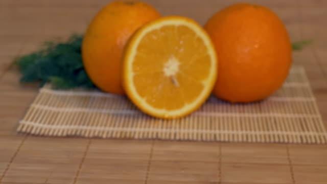 Fresh Oranges on Table video