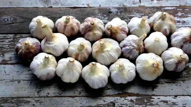 Fresh Organic Garlic Bulb - video