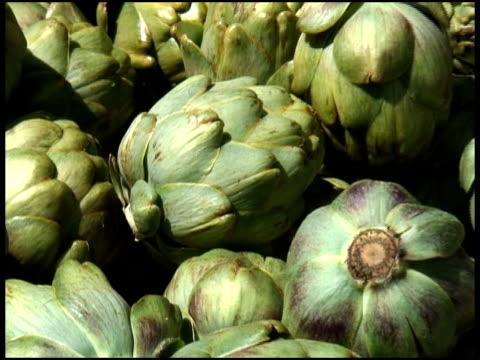 Fresh Organic Globe Artichoke Buds video