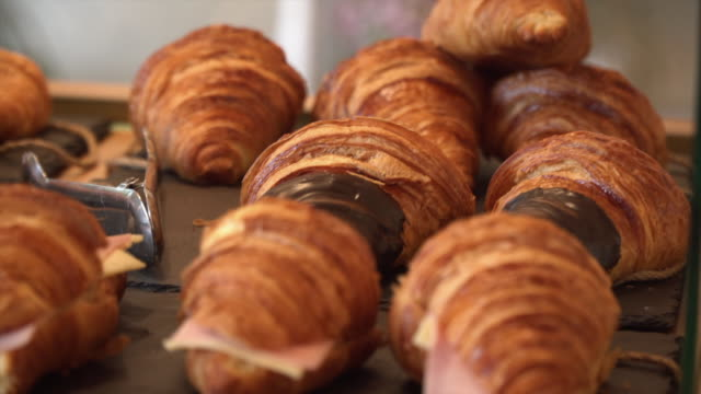 fresh pastry store - french food stock videos and b-roll footage