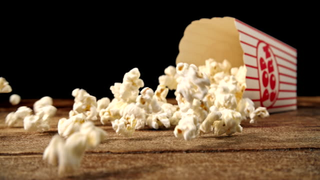 Fresh Popcorn Falling Out a Box video