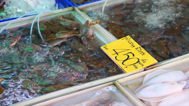 Fresh seafood in market