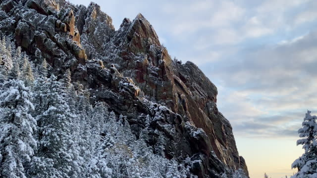 Fresh snow covers the landscape near Boulder Colorado