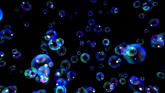 新鮮な石鹸の泡 [ループ] - ふわふわ点の映像素材/bロール