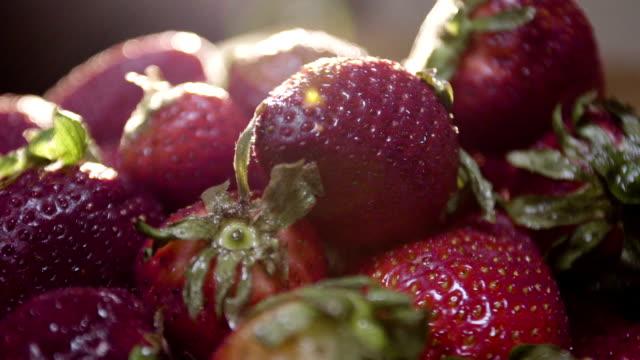 Fresh Strawberries for breakfast video