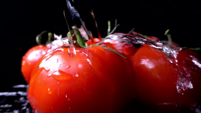 Fresh tomatoes, Slow Motion video