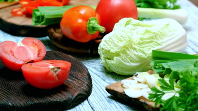 Fresh vegetable salad cooking video