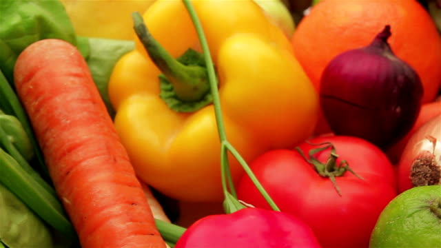 Fresh Vegetables and Fruits Fresh Vegetables and Fruits paprika stock videos & royalty-free footage