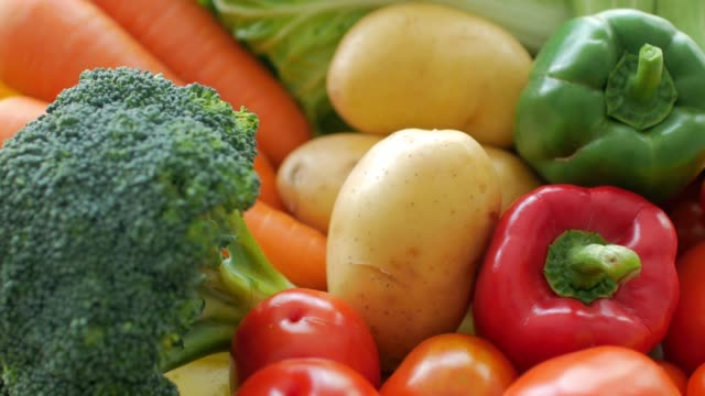 fresh vegetables for healthy food cooking - superfoods stock videos and b-roll footage