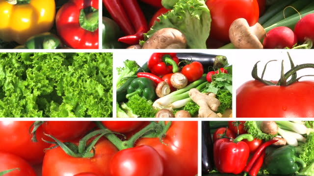 Fresh Vegetables - Montage video