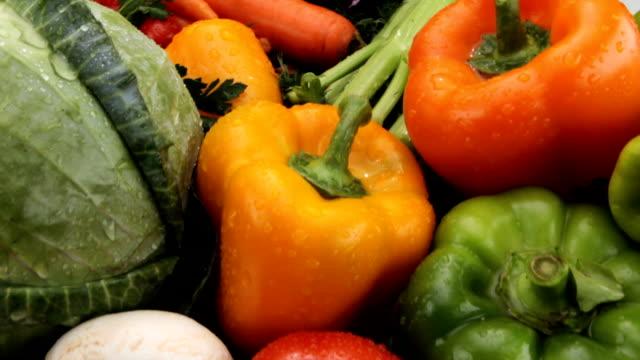Fresh vegetables video