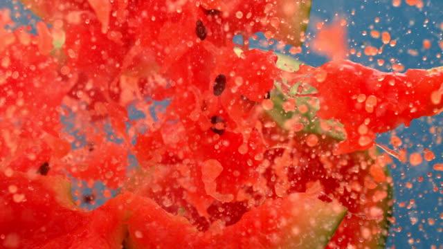Fresh Watermelon Fruit Juice splashing out.