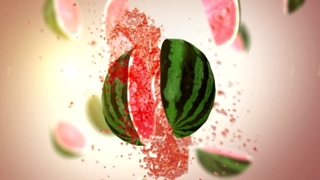 Fresh Watermelon (Slow Motion) video