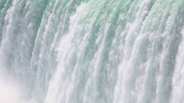 Fresh waters crashes over Niagara Falls, Ontario, Canada
