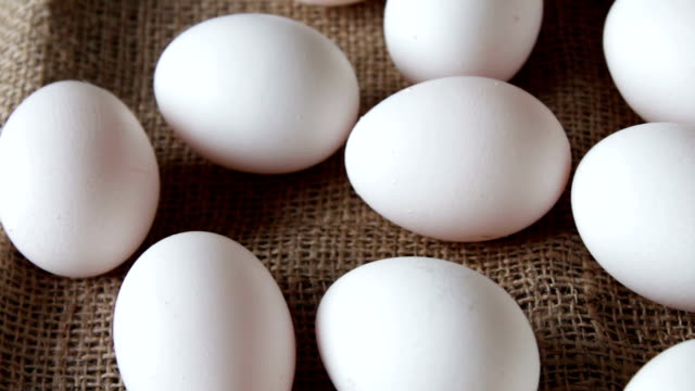 fresh white large raw eggs