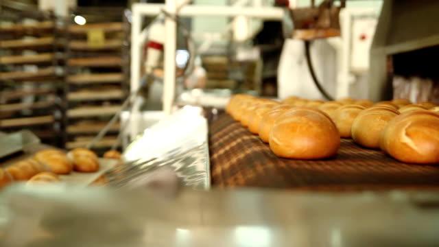 Freshly baked bread video