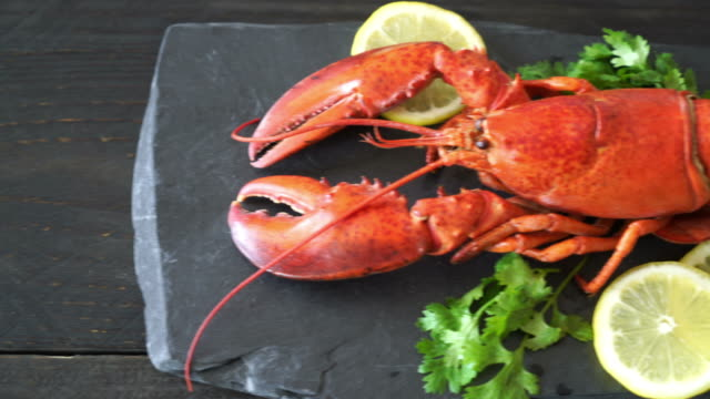 freshly boiled lobster with vegetable freshly boiled lobster with vegetable boiled stock videos & royalty-free footage